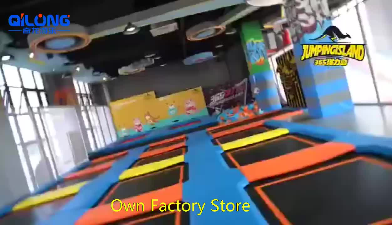 Jumping Mat Zone Complete Project Indoor Playground interactive Game Systems Trampoline Park