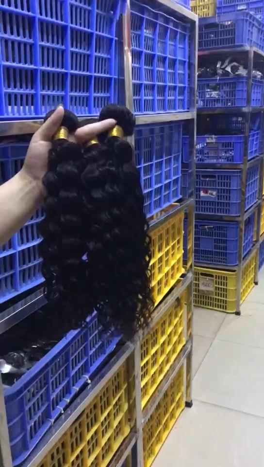 ไม่มีสารเคมี Deep Wave Hair Peruvian Hair Hot ขายผม