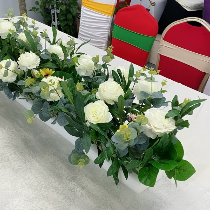 Silk Flower Bunch Artificial Prony Bouquet Peony Flowers For Home Wedding Party Decor