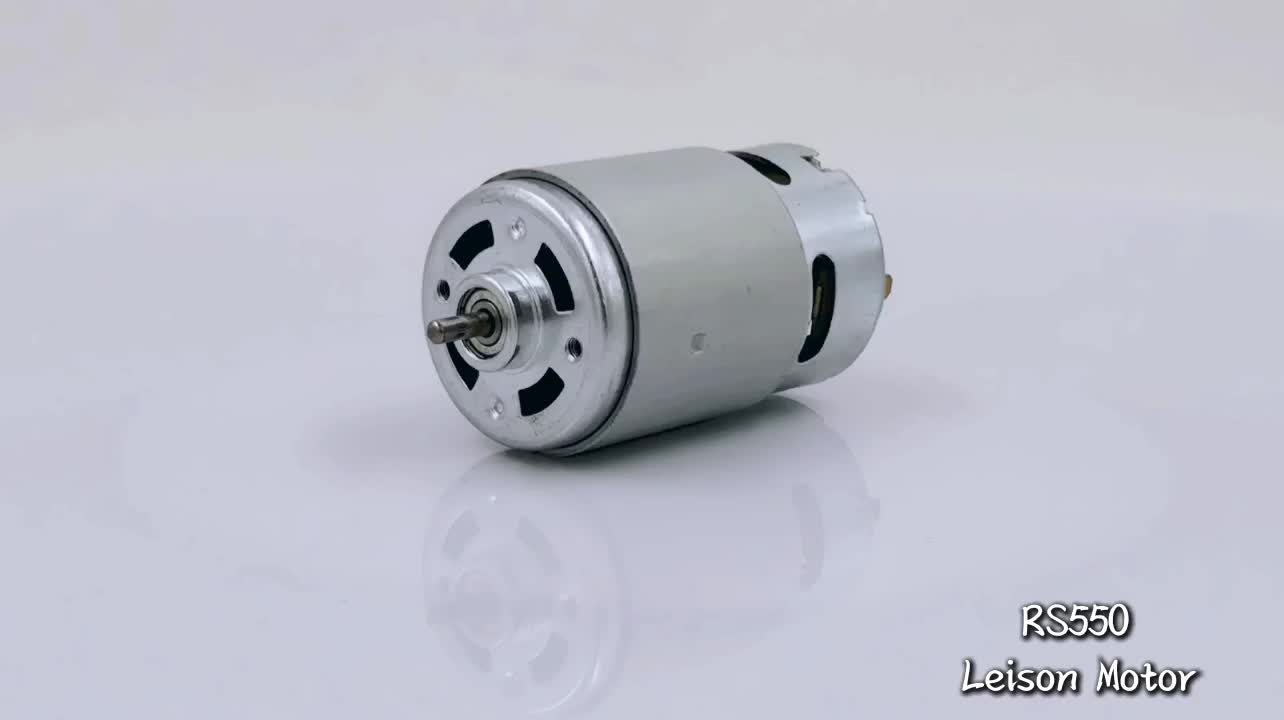 RS-550 Micro PM DC Motor, 3V-48V, 5W-100W Output, for Vacuum Cleaner, Motor Can be Customized Per Your Spec