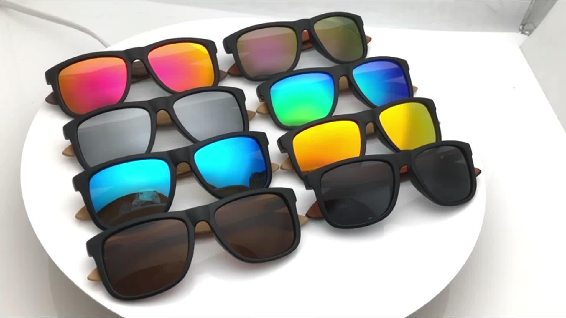 Óculos de sol de bambu de madeira feitos a mão polarizados com aprovaçã0 do CE de FDA