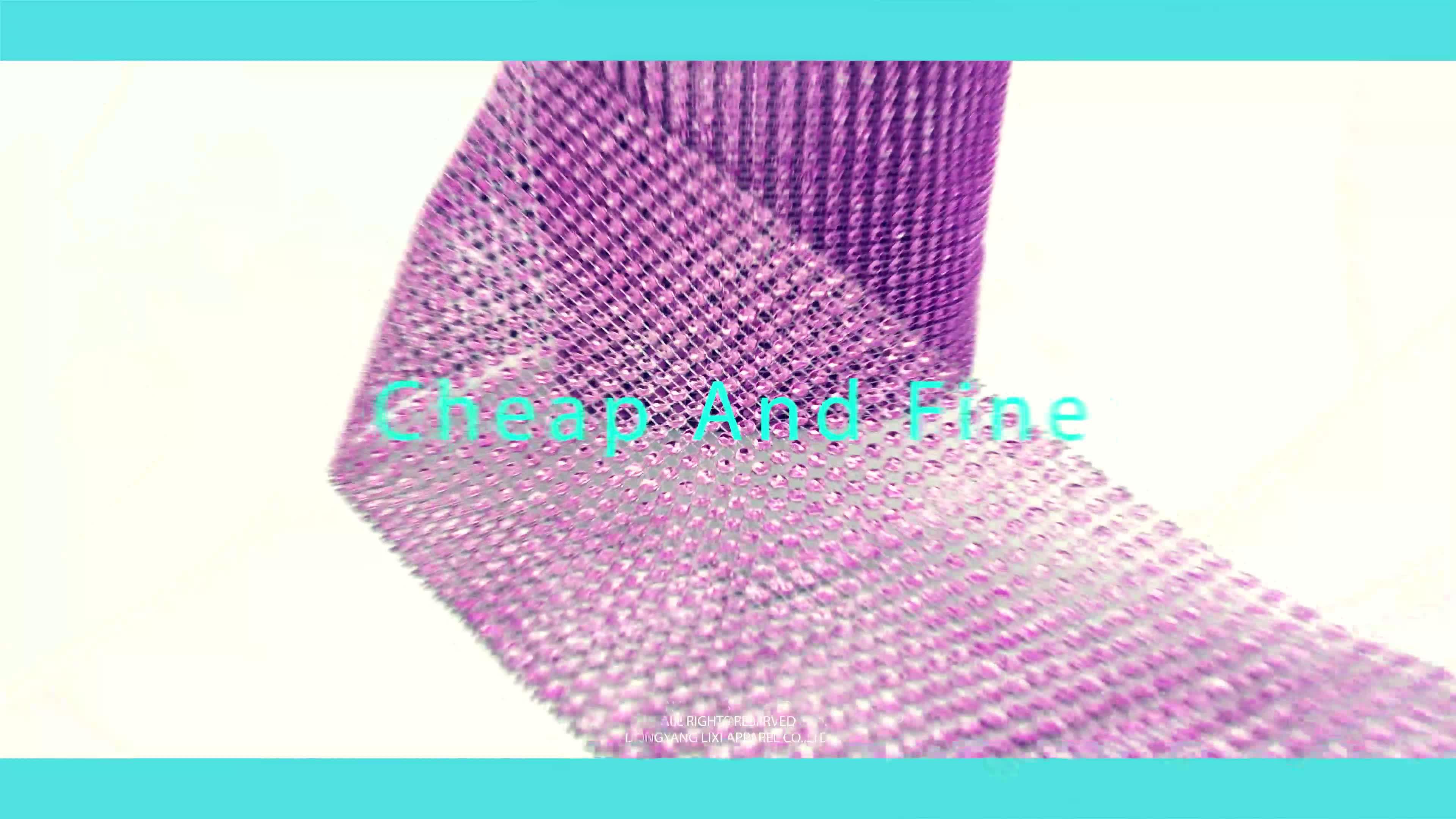 Mengkilap 30 Baris Ss3.5 Kristal LCT Warna Batu Mesh Hitam Dasar Plastik Berlian Imitasi Berlian Imitasi Pita untuk Pernikahan Dekorasi