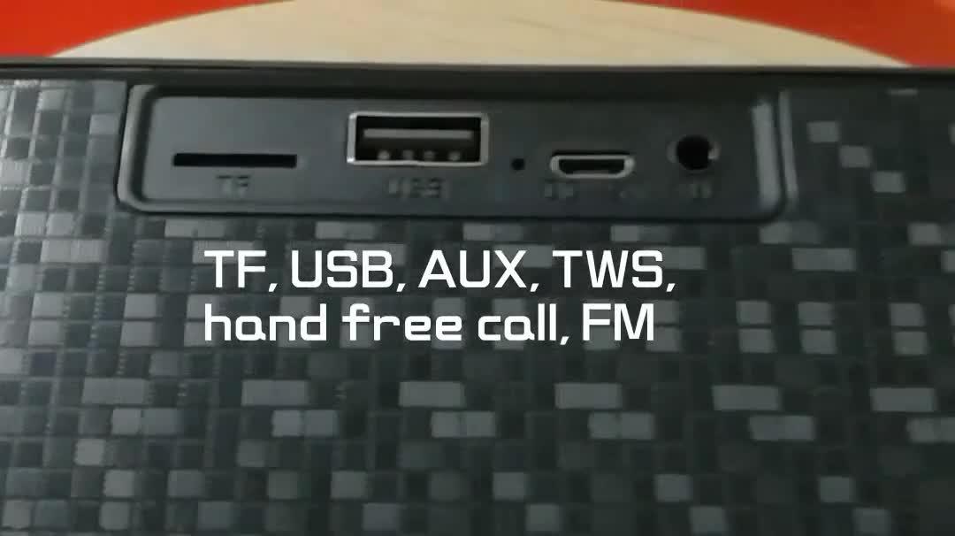 Ricaricabile portatile di alta qualità per esterni mini studio altoparlante con la radio attivo profesional casa