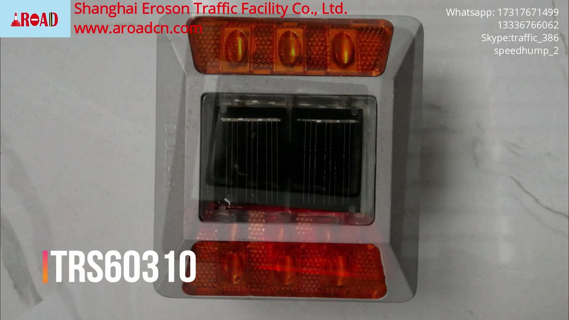 Hot sell aluminium 반사 외 red led 빛 solar safety road stud
