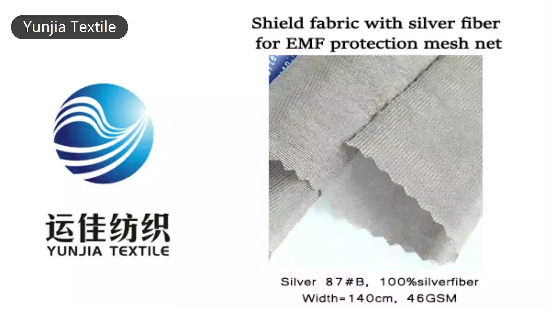 Silver coated radiation absorbent material for anti radiation tent net with anti radiation mesh