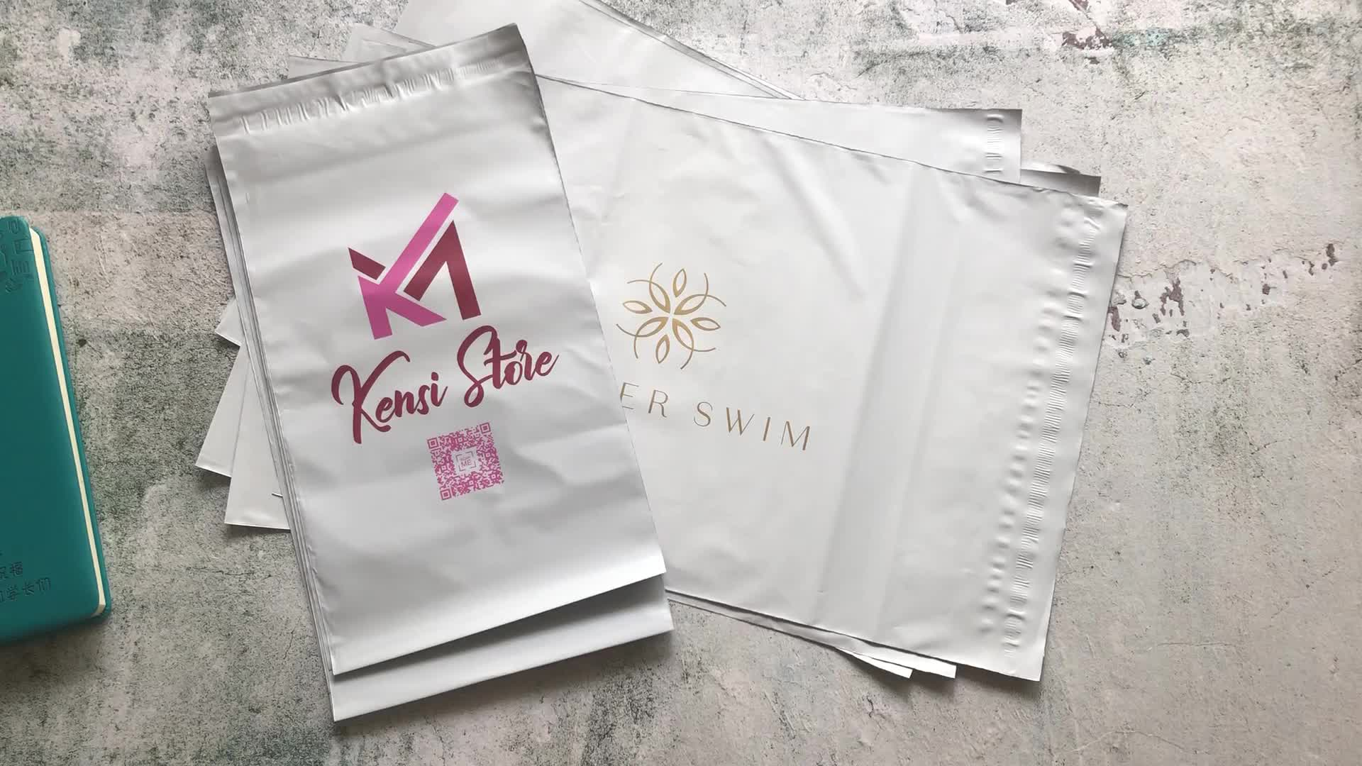 small and large eco friendly ldpe custom print plastic packaging envelopes courier bag mailer