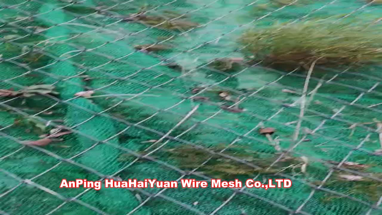 High-tensile steel wire slope protection / 3D geomat Erosion Control mat Geomat from factory directly EM3