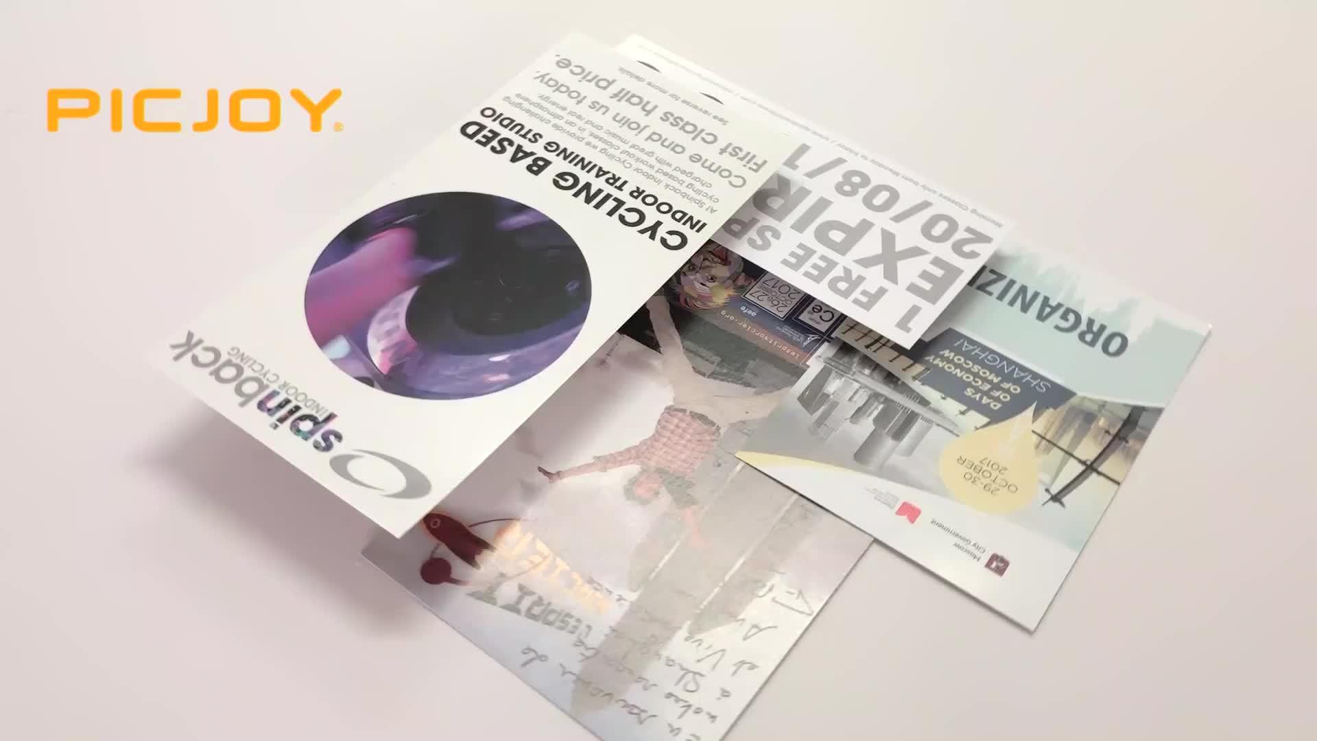 Çin A4 210x285mm 150gsm parlak kaplamalı kağıt ucuz flyer broşür broşür baskı shanghai