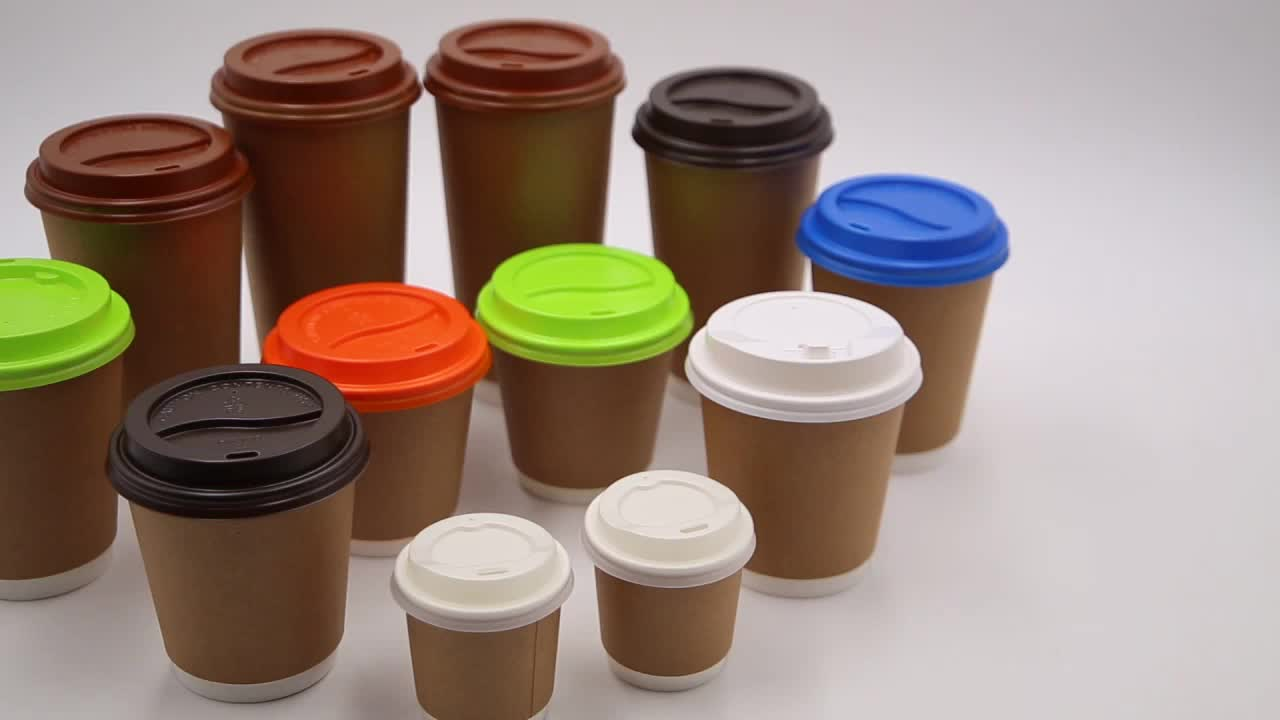 6OZ disposable hot drink paper cup biodegradable coffee cup custom logo printed ripple wall cup