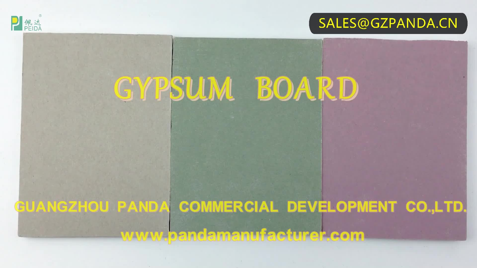 PANDA Manufacture Plaster Board for Drywall System