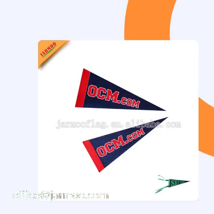 Decorative Flags On String/felt Pennant String Flags/triangle Flag String