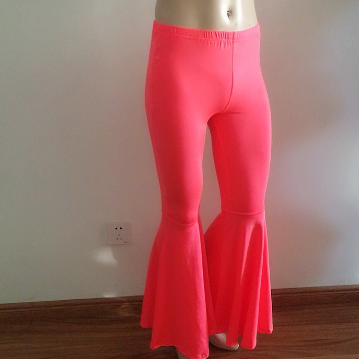 Wholesale Casual Plus Size Costume Bell Bottoms For Stage Dance Yoga Performance Wear solid color flared pants