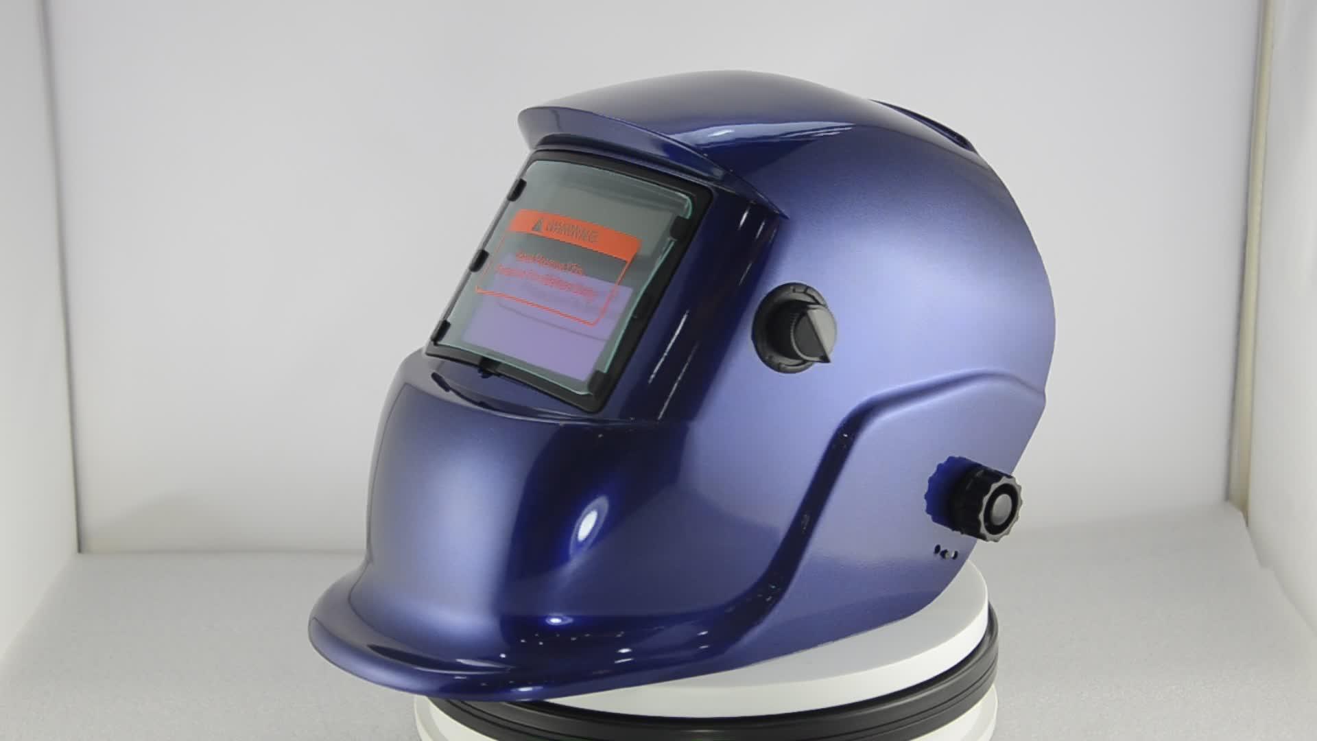 Sơn OEM auto thẫm màu hàn mũ bảo hiểm với vỏ màu đen có thể thay thế pin hot trên bán