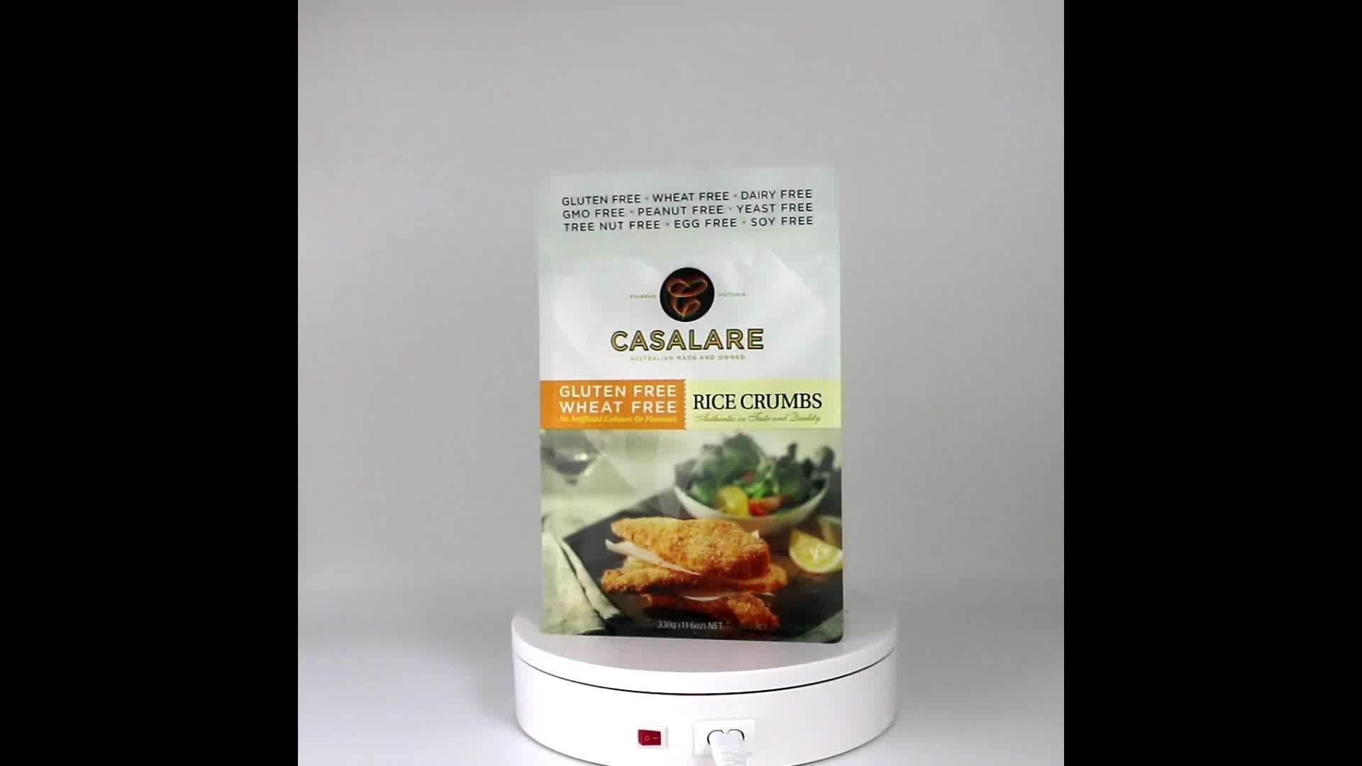 China Food-grade eight-side gusset ziplock bag for Gluten-free rice crumbs