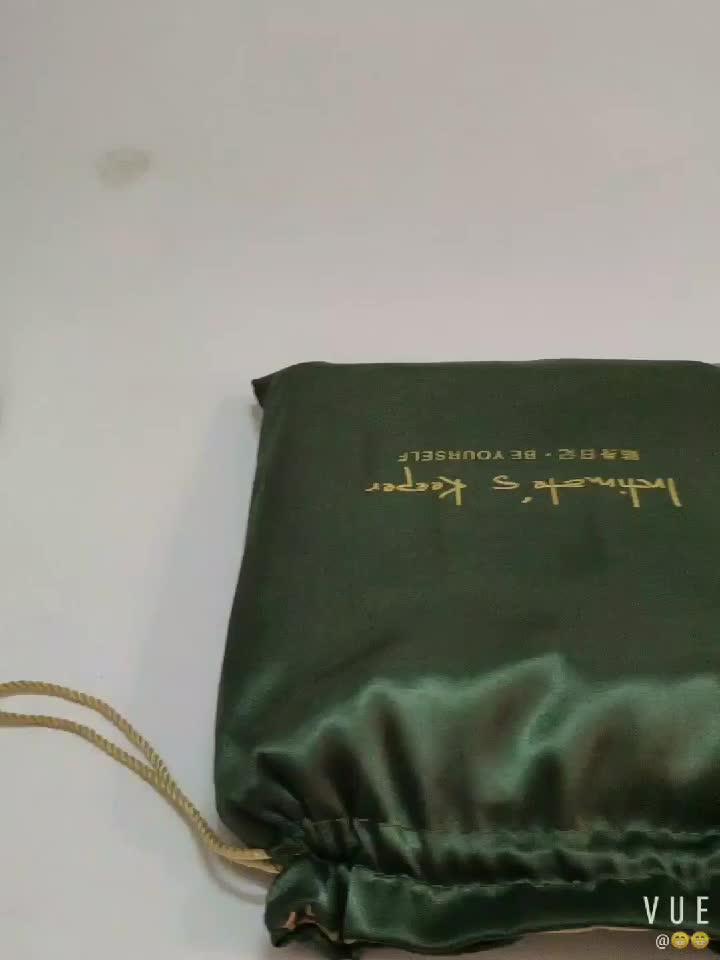 Özelleştirilebilir cüzdan parfüm ambalaj küçük saten çanta