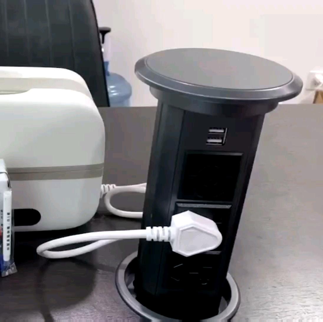 छिपा टेबल motorised खड़ी पॉप अप डेस्क प्लग सॉकेट