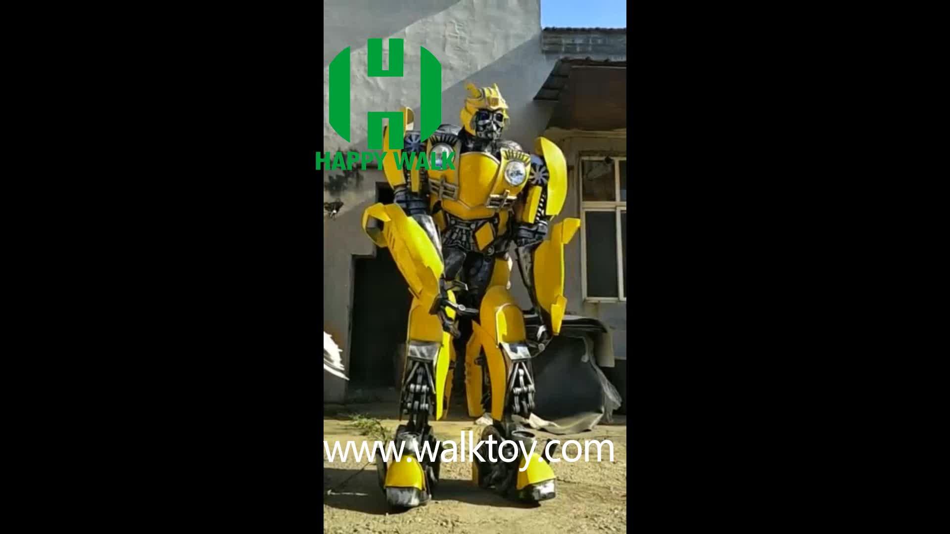 Hi Kualitas Tinggi Transformator Robot Maskot Kostum Memiliki Cahaya dan Suara Changer 2.6-2.8 M Tinggi