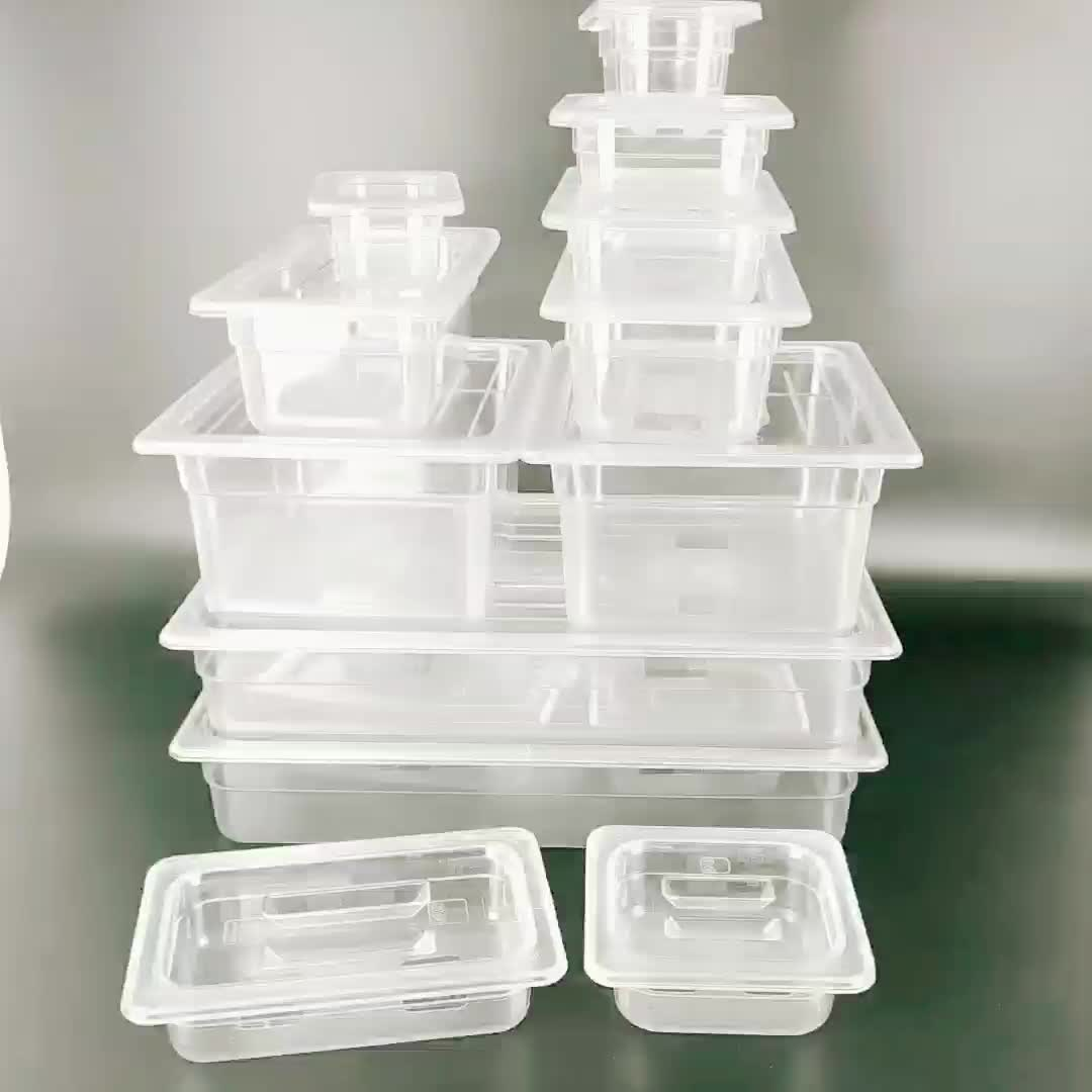 Transparent Food Grade plastic food storage containers PC gn pan