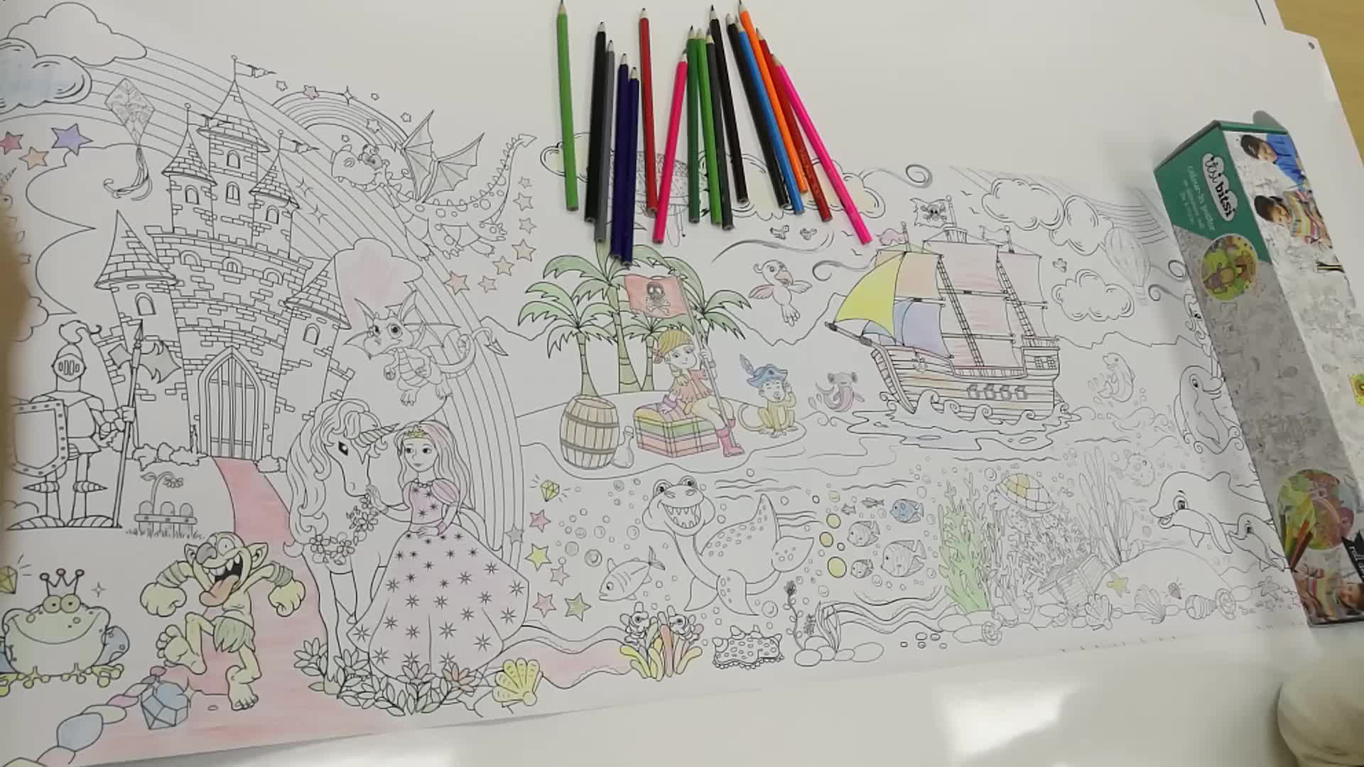 Giant Print Coloring Roll Poster