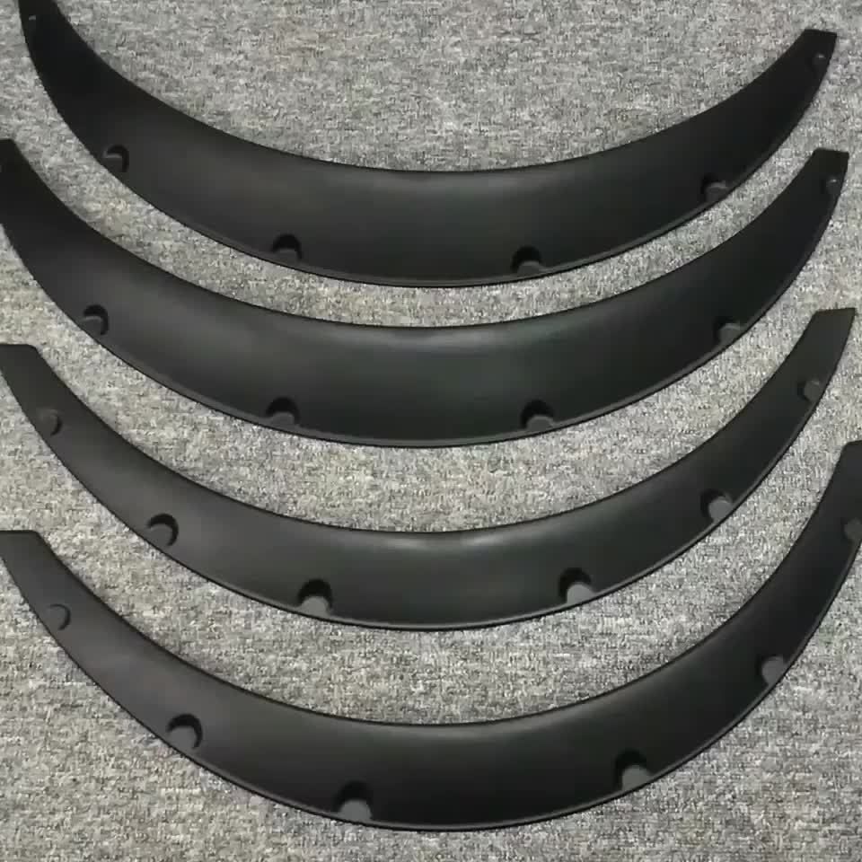 JDM 4 pcs ABS racing overfender universales flexible car Fender Flares Universal yet dur Eyebrow Protector Wheel Arch mudguards
