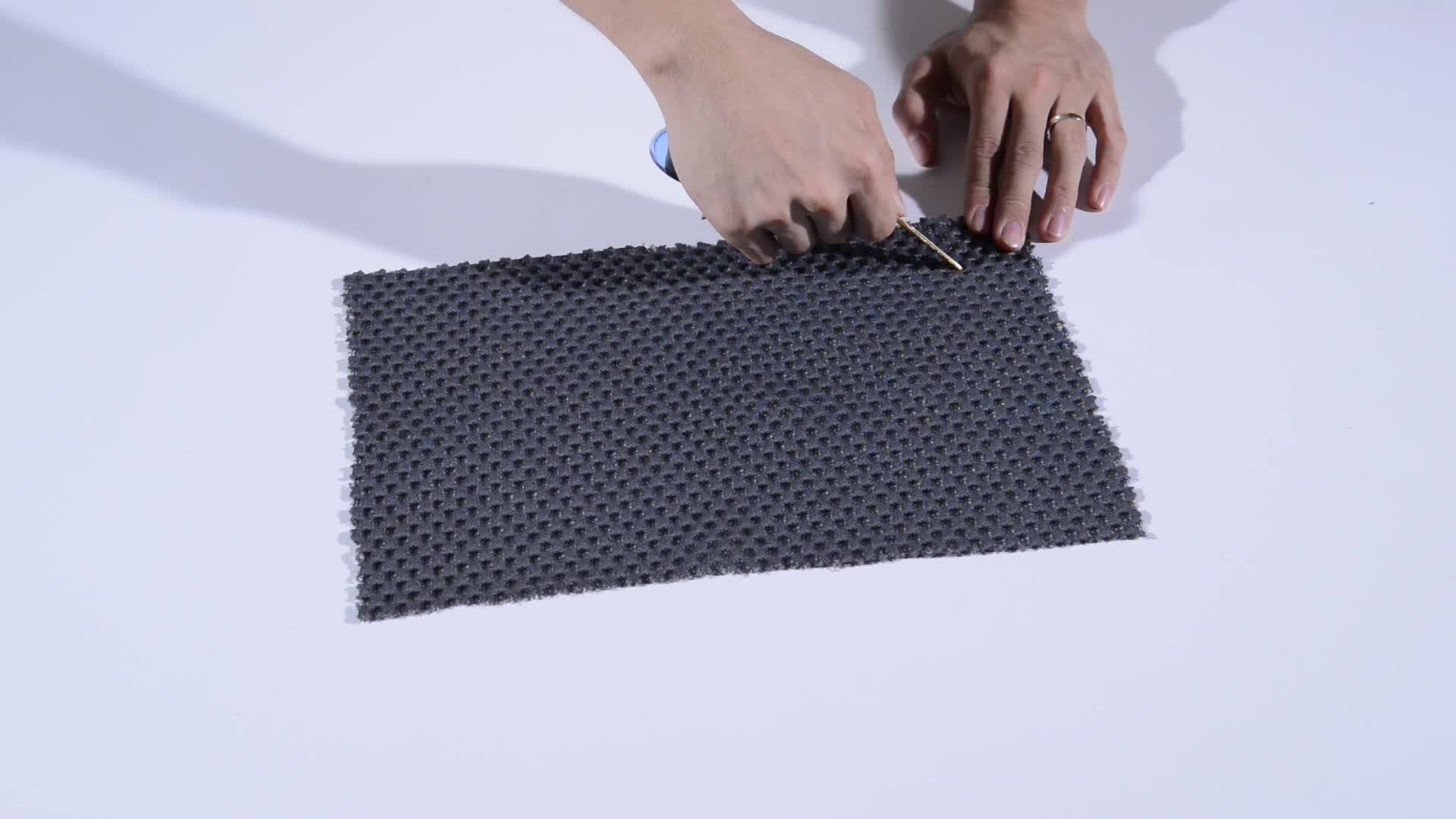 SGS 認証現代ファブリックウォッシャブルビッグ六角 3D 空気メッシュ生地枕やベビーパッド