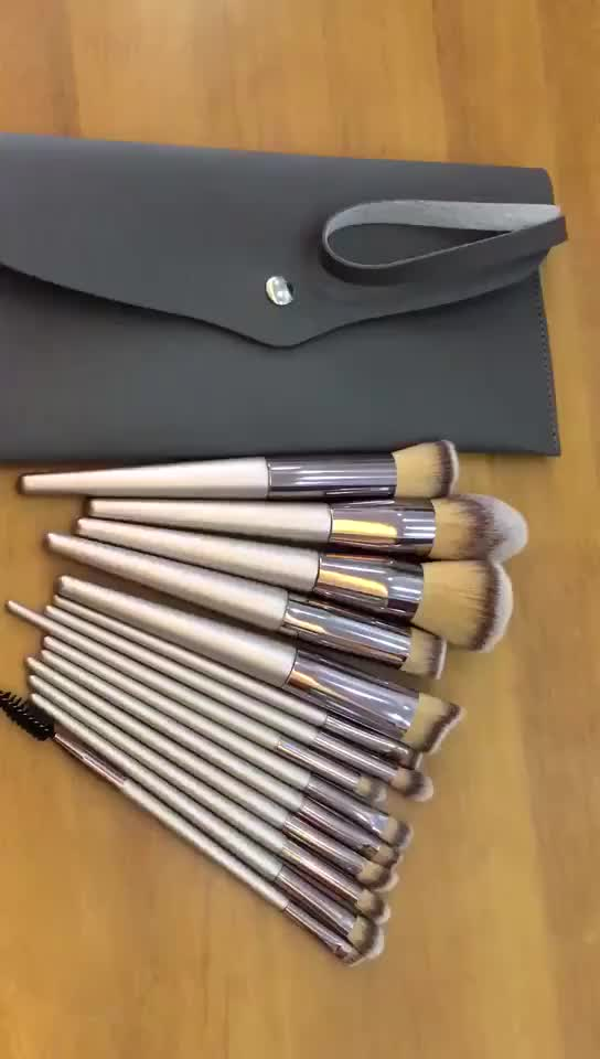 Luxury Brushes Set For Foundation Powder Blush Eyeshadow Concealer  Eye Make Up Brush Cosmetics Beauty Tools