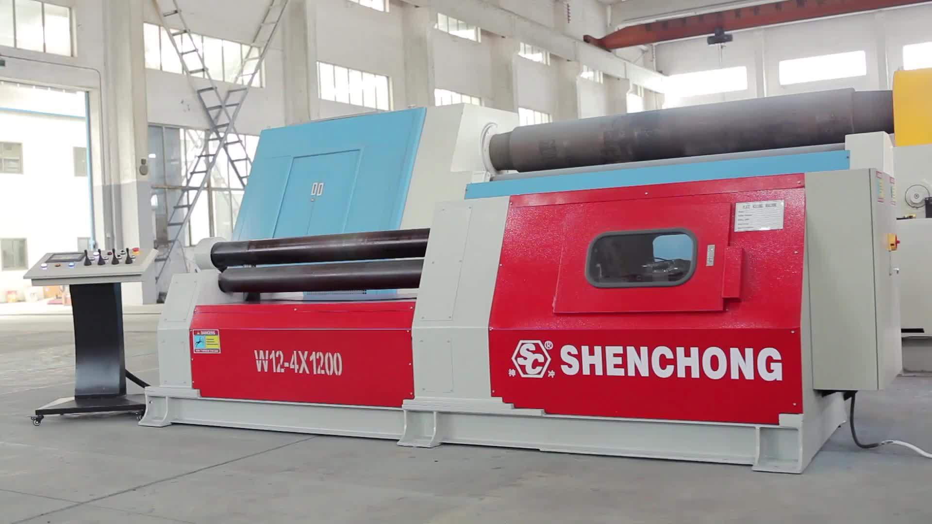 Biegen 4 Walzen Maschine Platte W12- Vier Walze Maschine drei Walzmaschine zum Verkauf