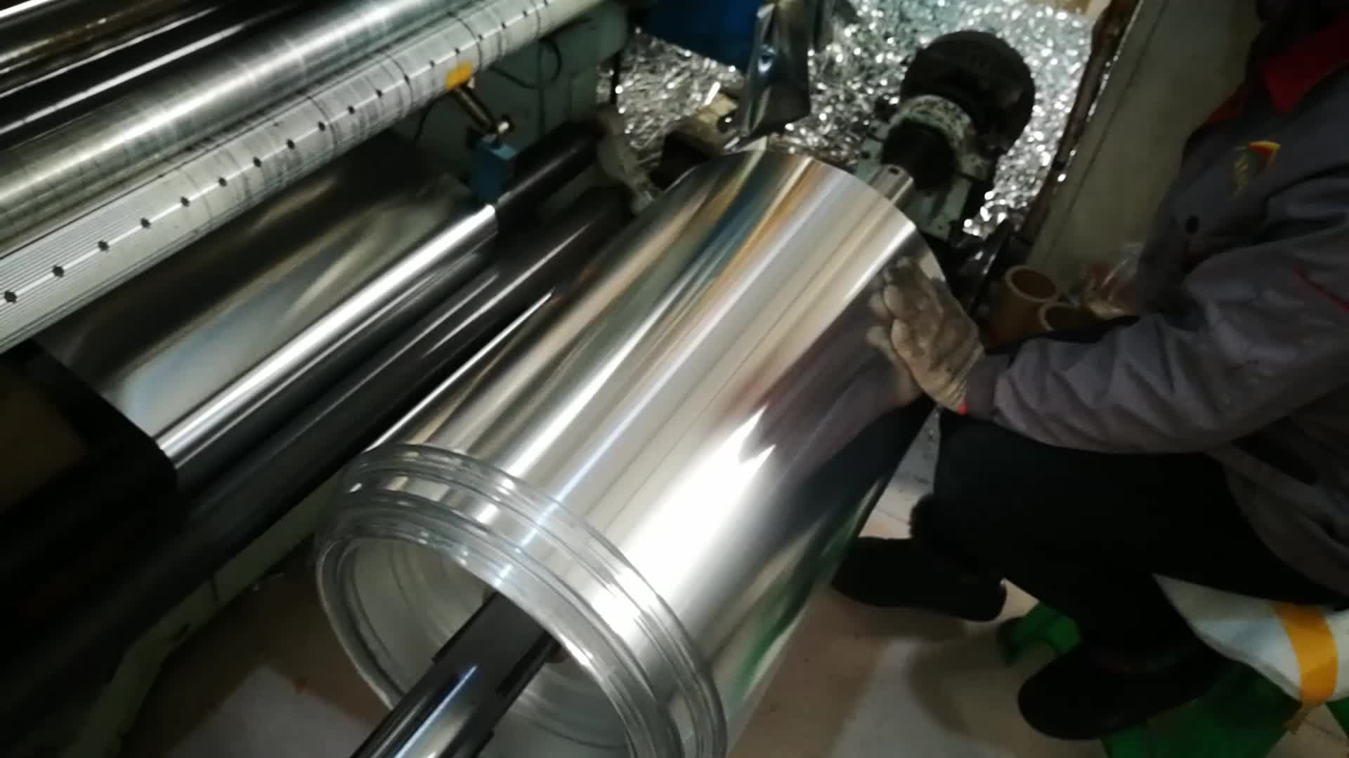 China stock price polyester laminated aluminum mylar film for coaxial cable shielding15PET/9AL aluminum mylar foil