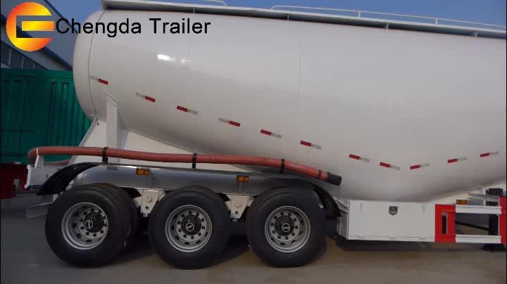 Made in China Factory Price 3 Axles 80Ton 75M3 Bulk Cement Semi Trailer For Sale