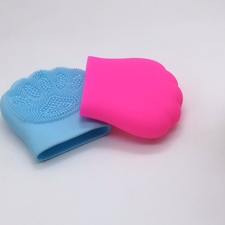 New Fashion silicone glove scrub Massage function silicone cleaning brush for body face