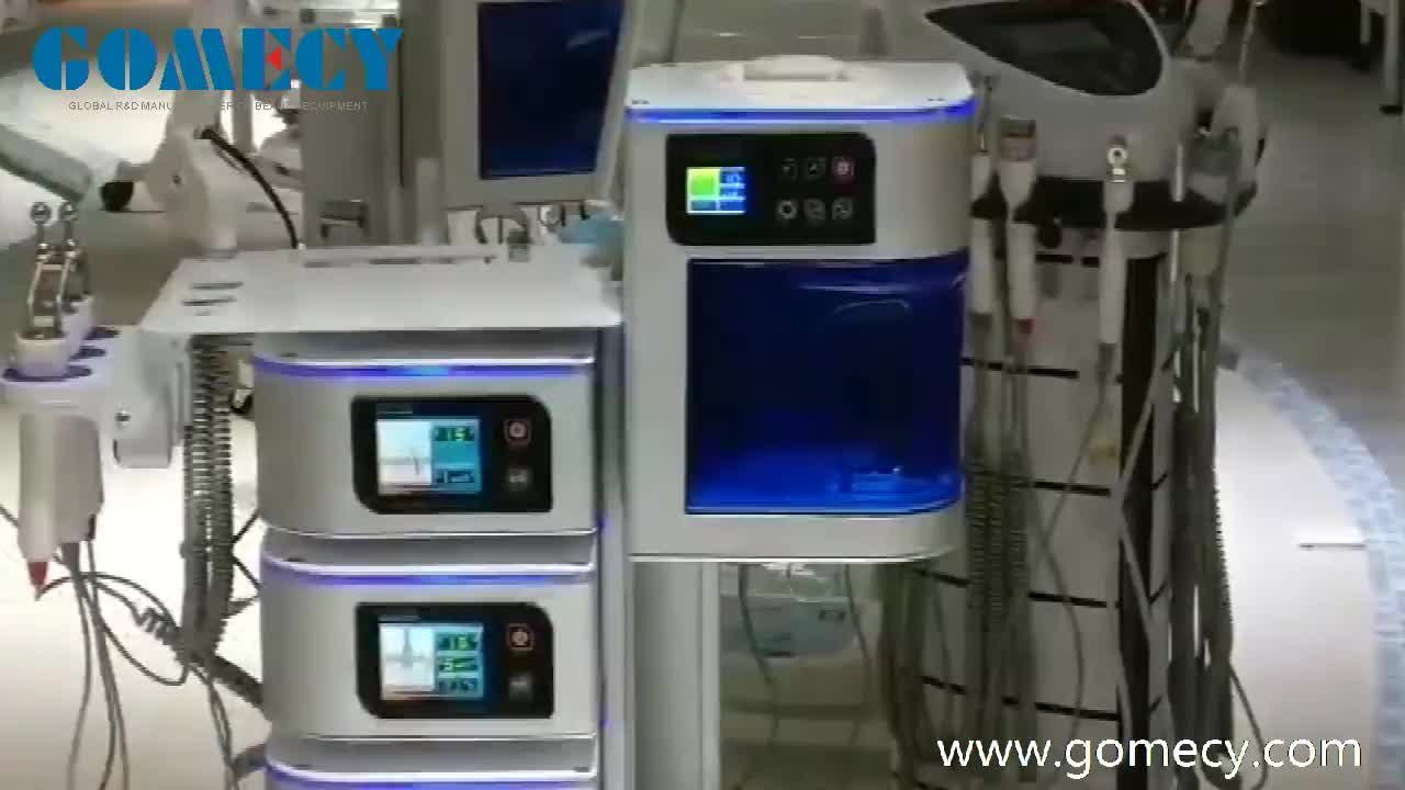 CE digital 7 in 1 facial machine multifunctional face tools spa use microcurrent ozone vapor steamer hot towel cabinet