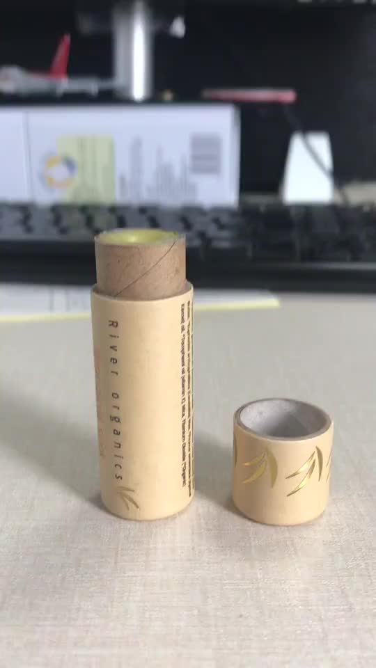 100% biodegradable push up paper tubes cardboard empty deodorant containers