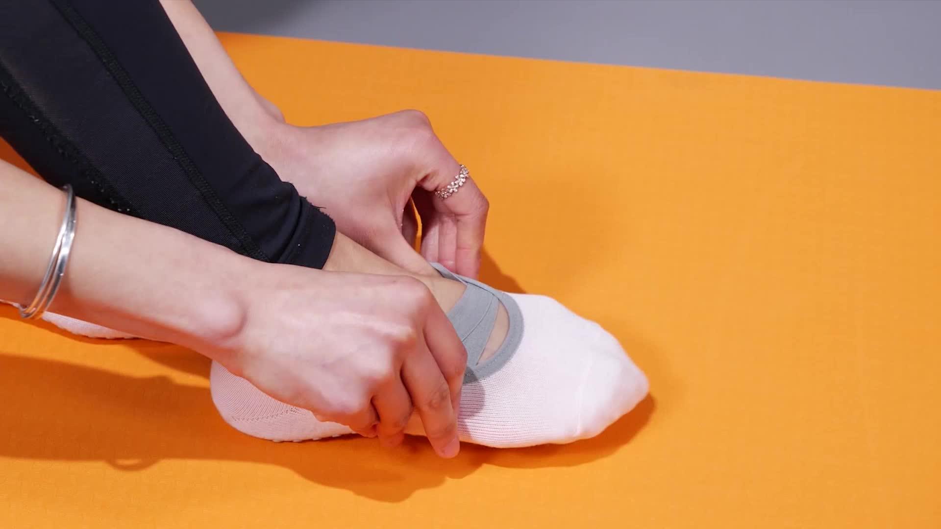 MEIKAN Gros Coton Anti-dérapant En Silicone Souple Semelle Danse Barre Ballet Pilates Sox Personnalisé Femmes Yoga Chaussettes pour femmes