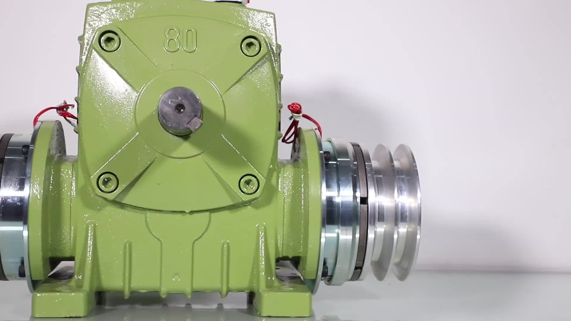 TJ-BKACS 1:10~1:60 ratio worm speed gearbox reducer with electromagnetic clutch and brake