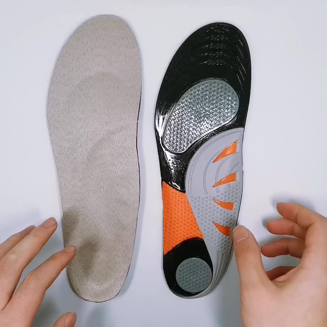 low arch support plantar Running tpe silicone gel sport insole for shoes