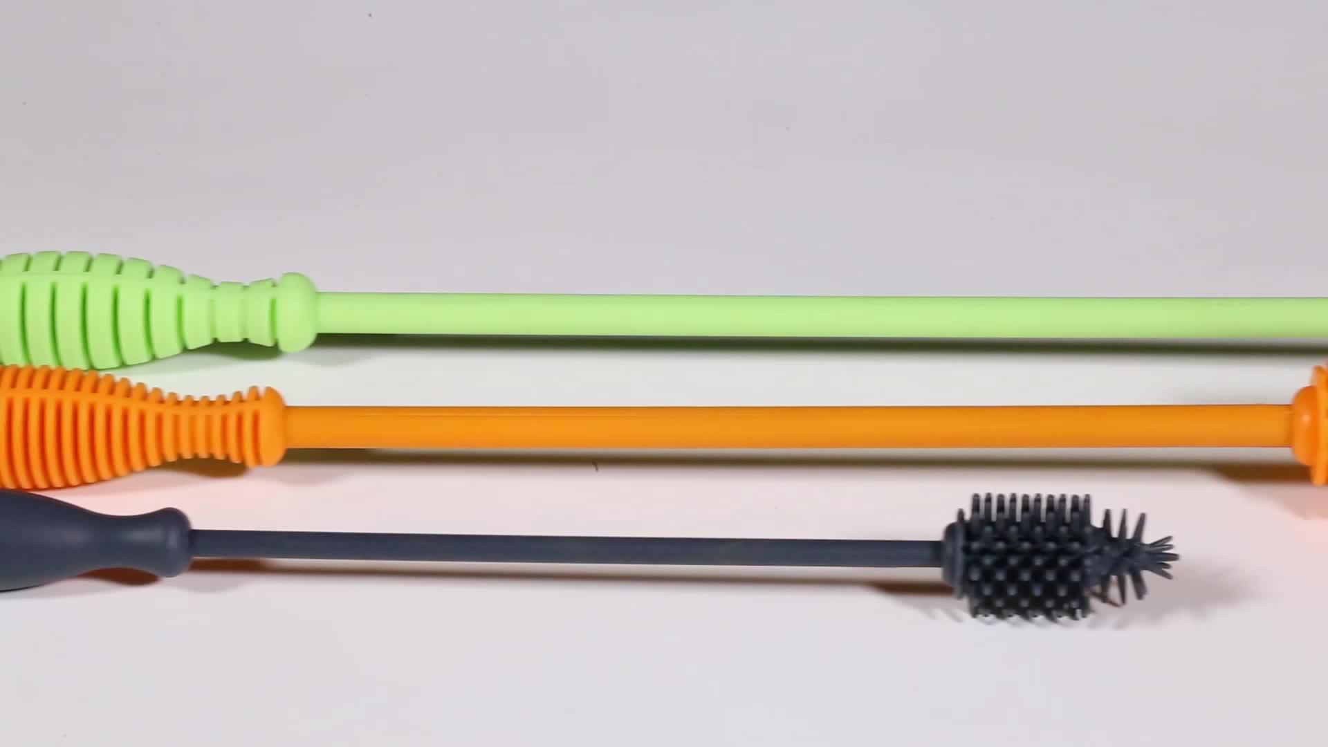 Arruela de mamadeira limpeza escova de cabo flexível