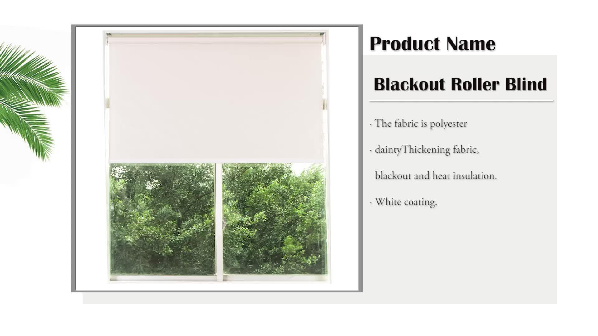 100% polyester stof hittebestendige witte jaloezieën tinten perfect fit verduisterende rolgordijnen