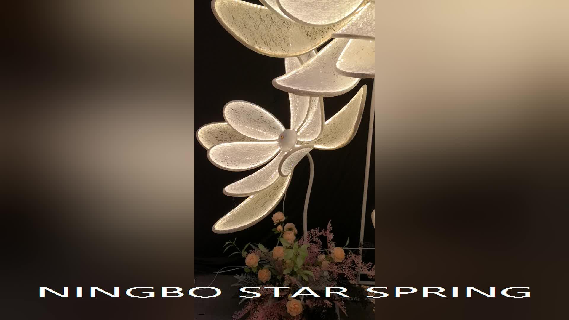 2019 Desain Baru LED Renda Bunga Lampu Jalan Dekorasi Pernikahan Tahap Dekorasi