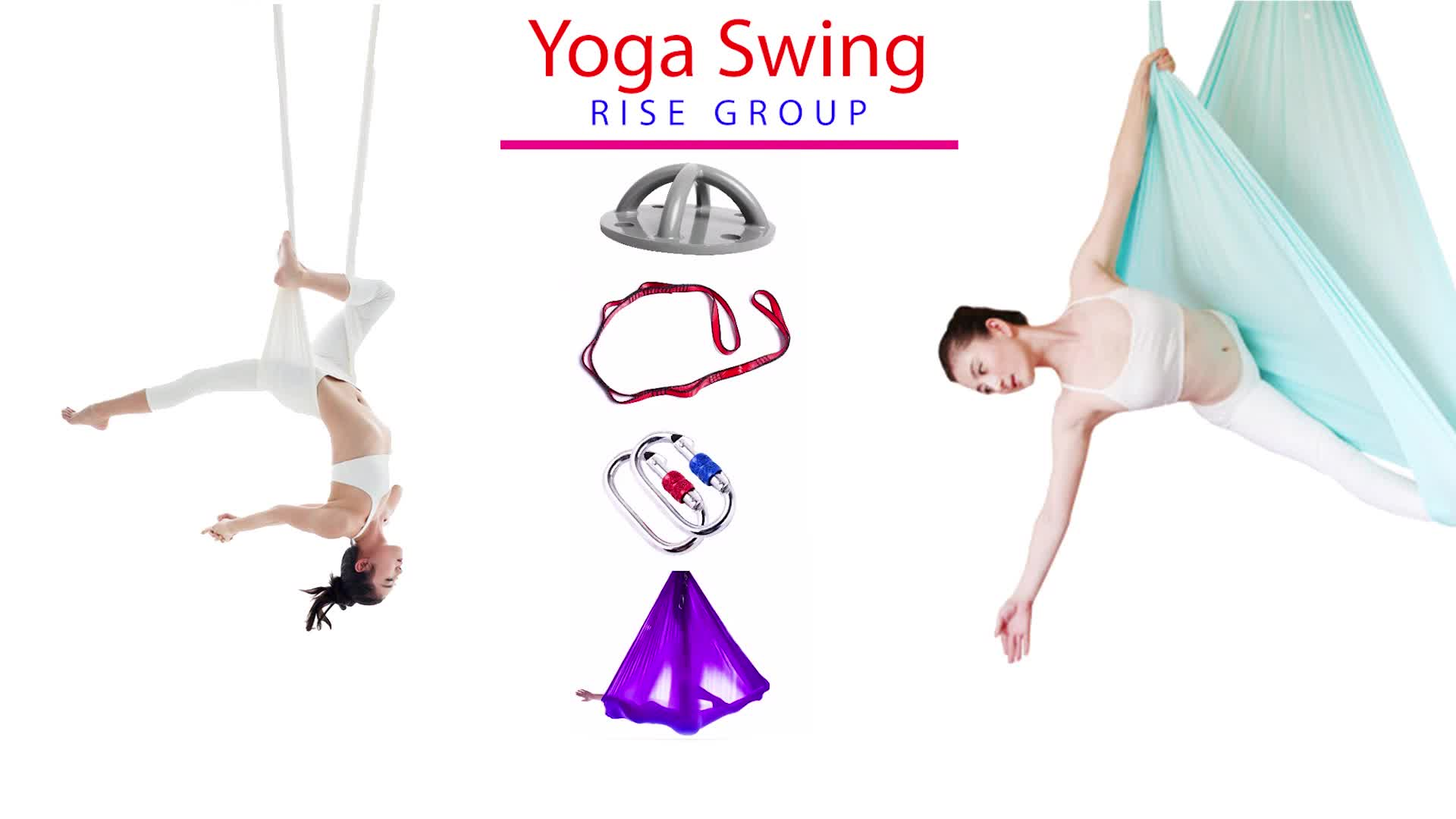 yoga swing hammock sling for antigravity yoga exercise aerial yoga swing band hammock