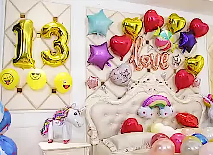 2020 Happy birthday party pearl balon decorations anniversaire gold letter globos numbers confetti ballons helium foil balloons
