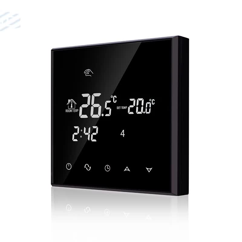 HY03WE-4-wifi  Tuya wifi Touch Screen Programmable Digital wifi Room Thermostat with voice control and support multiple language