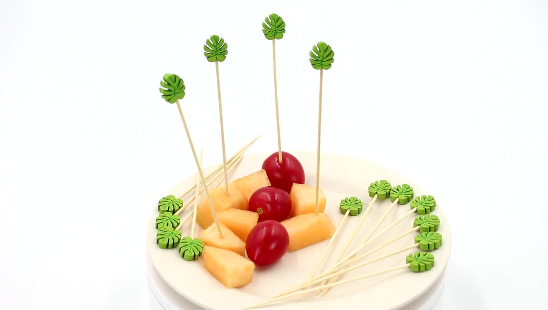 Blatt form einweg cocktail pick dekorative lebensmittel partei pick