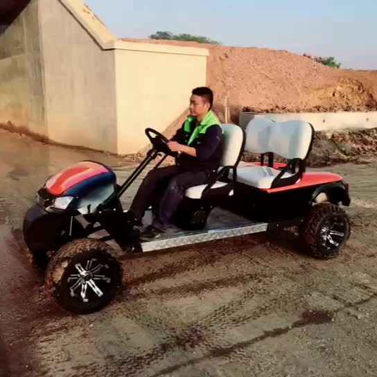 Used Mini 4 Seater Electric / Gas Golf Carts Battery for Sale