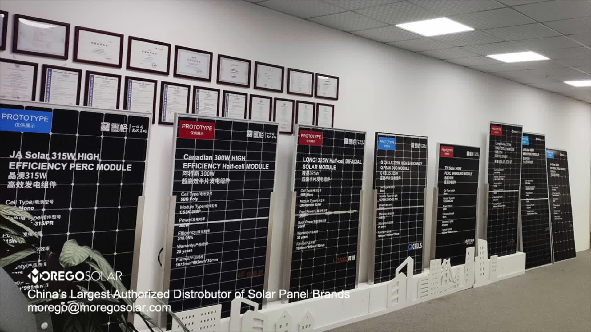 Moregosolar verteilen JA/Longi/Q zellen/Trina/Kanadischen solarzelle panels tier 1 solar panel