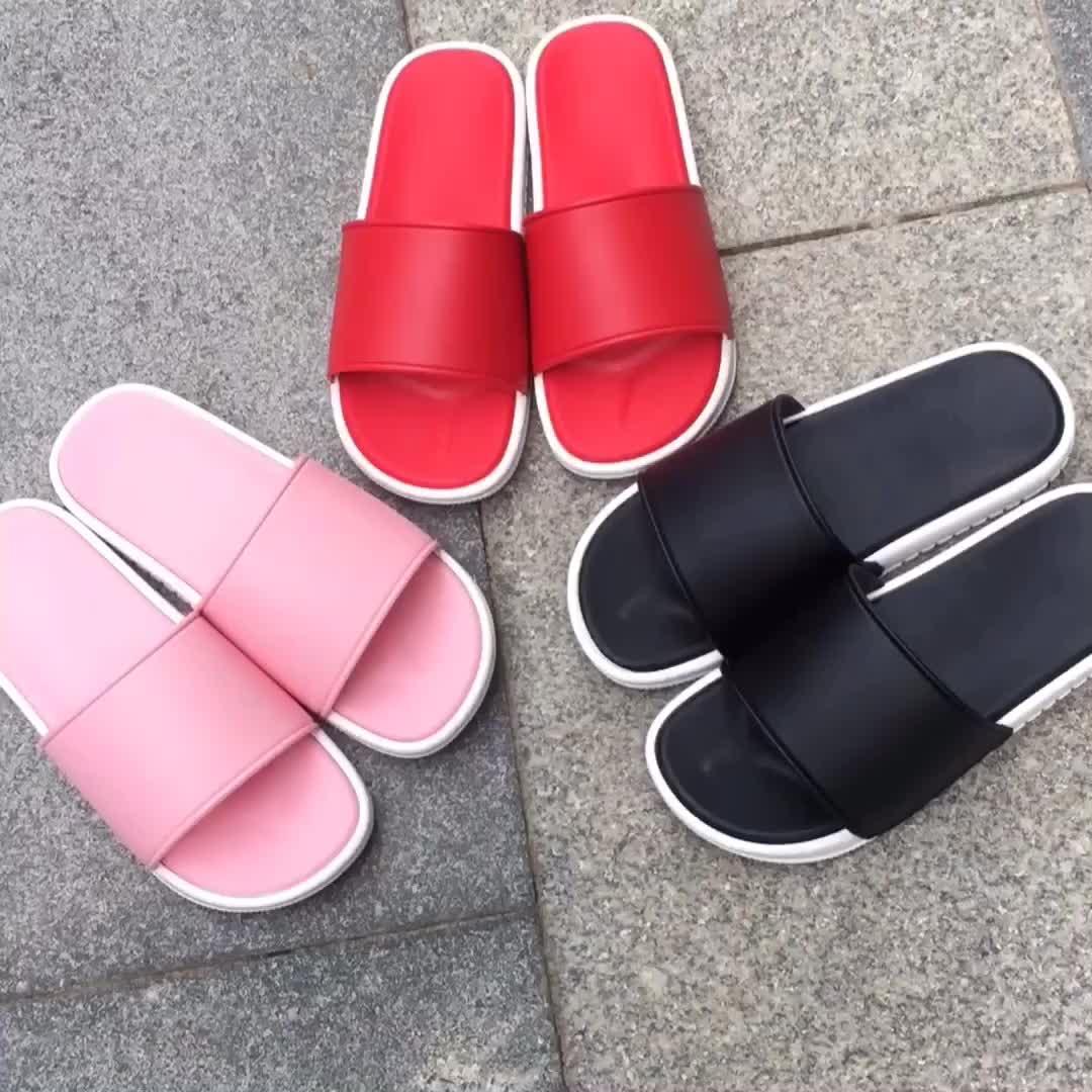 Custom Logo Shoes Latest Flat Lady Print Slipper Women Slide Sandals