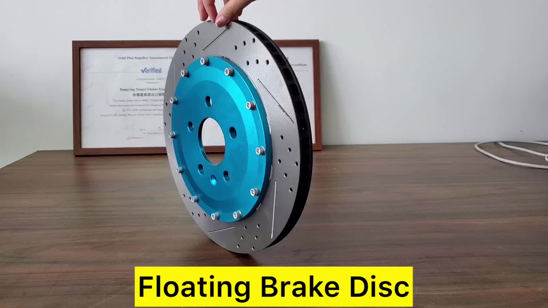 Drilled and slotted modified brake disc rotor floating auto brake disc