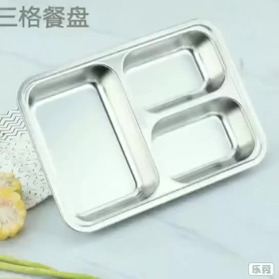 Microwave oven Heated 2 grid plastic Bento Lunch box With Lock