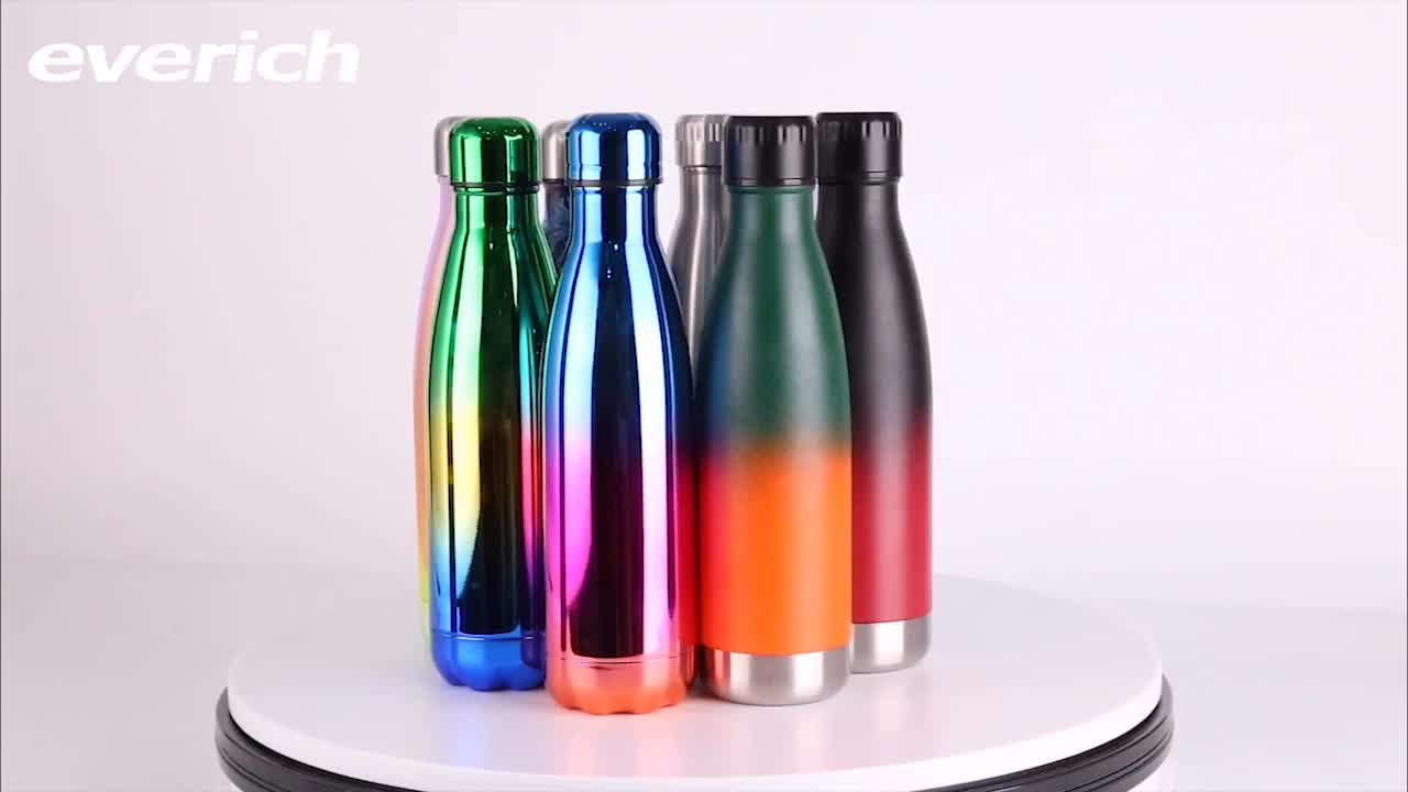 2019 cola shape thermal bottle 500ML drink stainless steel insulated sport bottle flask double wall bottle