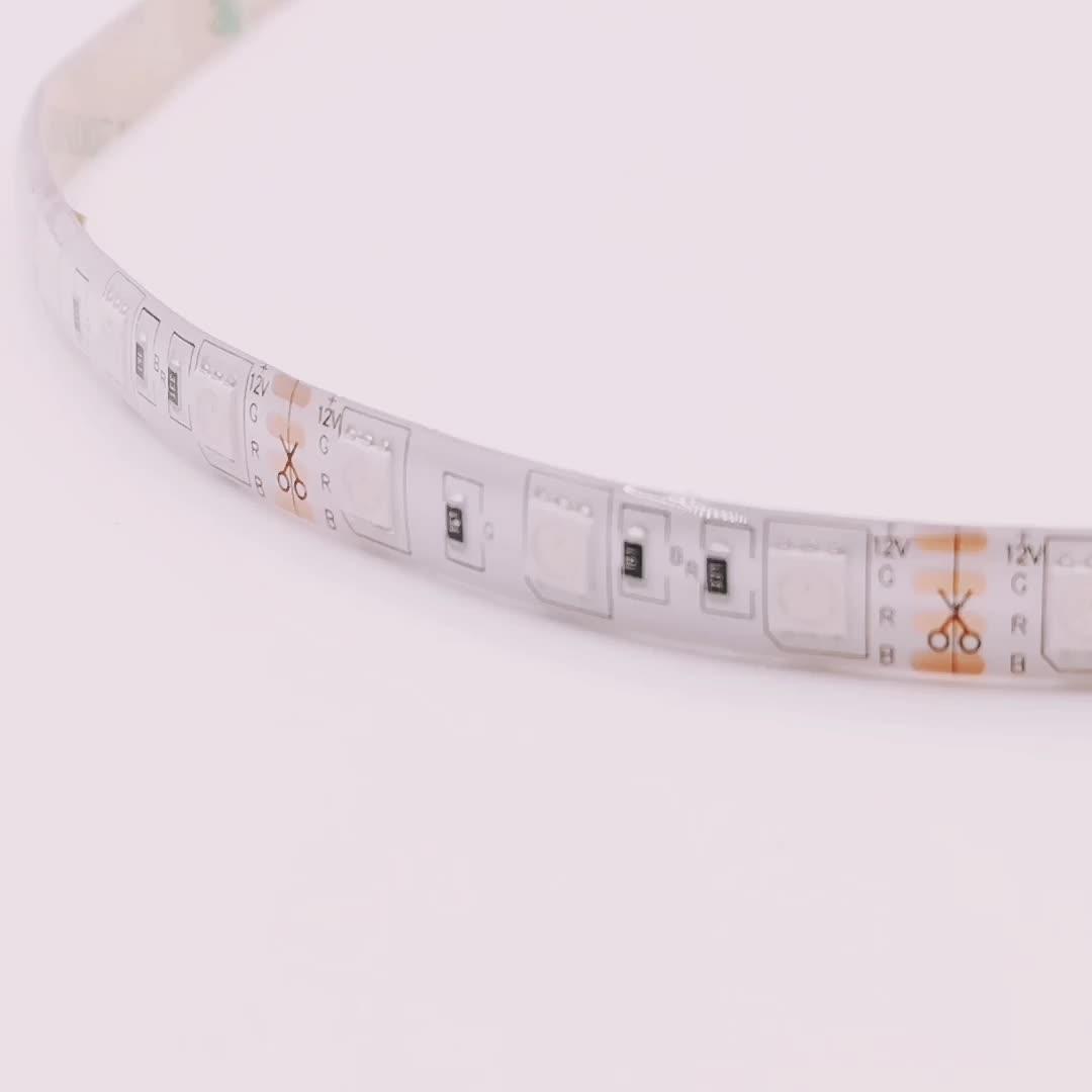 Goede kwaliteit waterdichte led strip smd 5050 RGB dc12v led strip verlichting kit