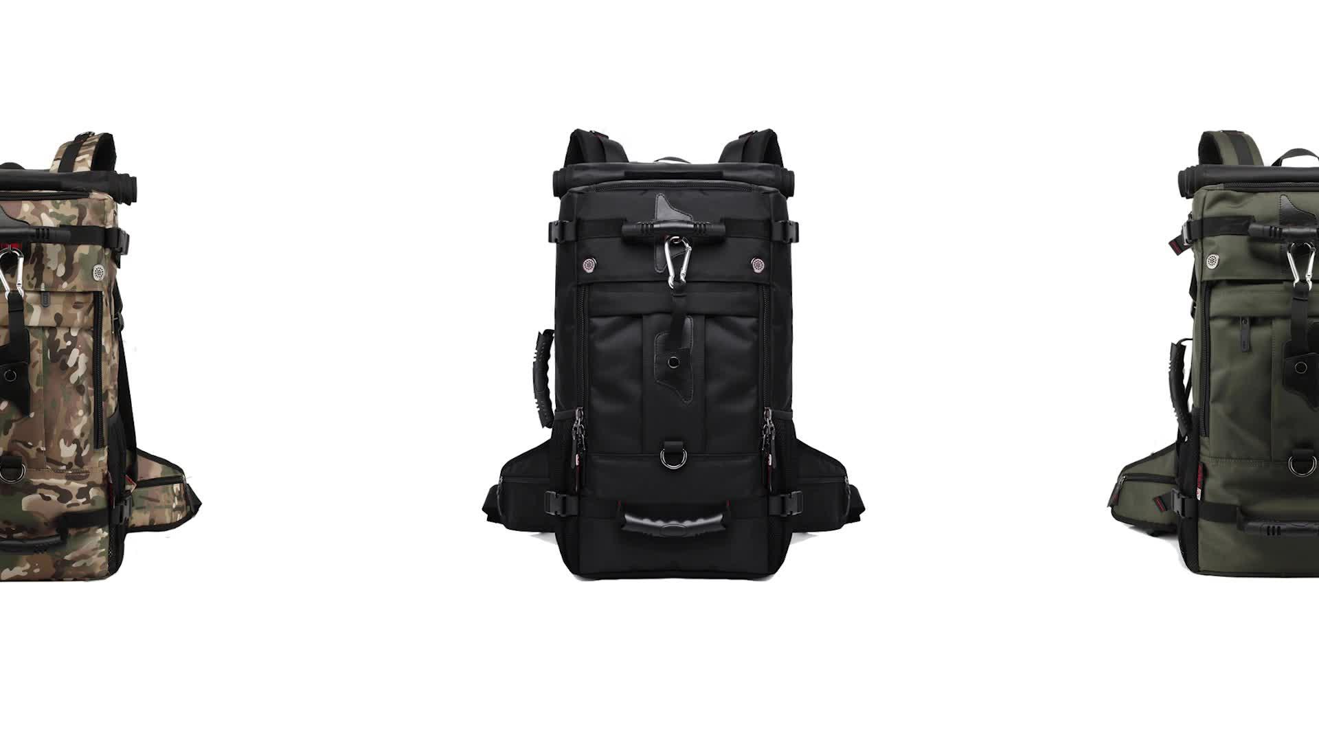 free lock guangzhou kaka 40l 3 way mens custom waterproof backpack bag travelling backpack for men